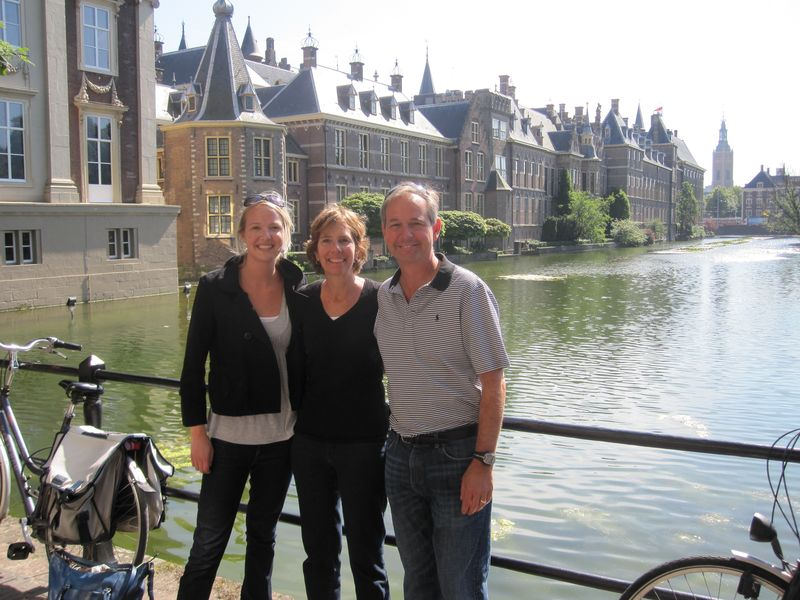 Emily with Mom and Dad The Hague summer 2010